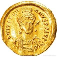 Monedas Imperio Bizantino: MONEDA, JUSTINIAN I, SOLIDUS, 527-565 AD, CONSTANTINOPLE, FRISON IMITATION, EBC. Lote 259836465