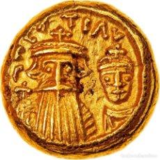 Monedas Imperio Bizantino: MONEDA, CONSTANS II AND CONSTANTINE IV, SOLIDUS, 655-656, CARTHAGE, EBC, ORO. Lote 262767515