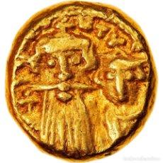 Monedas Imperio Bizantino: MONEDA, CONSTANS II AND CONSTANTINE IV, SOLIDUS, 659-668, CARTHAGE, MBC, ORO. Lote 262775085