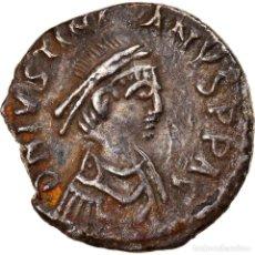 Monedas Imperio Bizantino: MONEDA, JUSTINIAN I, HALF SILIQUA, 534-552, CARTHAGE, MBC+, PLATA, SEAR:253. Lote 264154888