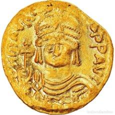 Monedas Imperio Bizantino: MONEDA, MAURICE TIBERIUS, SOLIDUS, 582-602, CONSTANTINOPLE, EBC, ORO. Lote 268313359