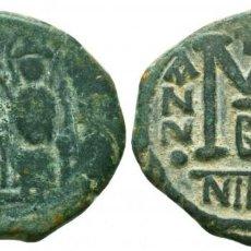 Monedas Imperio Bizantino: IMPERIO BIZANTINO AE, JUSTINO II, CON SOFÍA. 565-578. Æ FOLLIS 15.0 GR 30 MM. MBC+. Lote 274899623