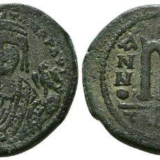 Monedas Imperio Bizantino: MAURICIO TIBERIO. 582-602. AE FOLLIS. ANTIOQUIA. 11.7 GR 29 MM. EBC-. Lote 297120083
