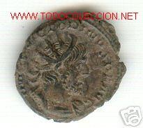 RARO Y BONITO ANTONINIANO DE VICTORINO (268-270 D.C.) (Numismática - Periodo Antiguo - Roma Imperio)