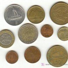 Monedas Imperio Romano: DIEZ MONEDAS CON MONUMENTOS PERSONAJES ANTIGUEDAD BARCOS ETC... Lote 22296730