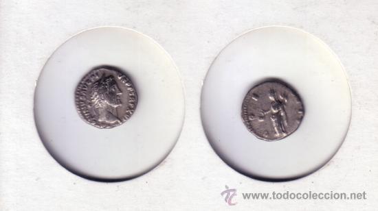 IR5-DENARIO. ANTONIO PIO. PLATA. MBC+ (S-4089) (Numismática - Periodo Antiguo - Roma Imperio)
