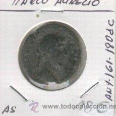 Monedas Imperio Romano: MANEDA ROMANA ANTIGUA. MARCO AURELIO. AS. AÑO 161-180. DESPUES DE CRISTO.. Lote 21738807