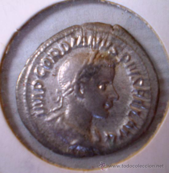 DENARIO DE GORDIANO III 241 DC VER FOTOS (Numismática - Periodo Antiguo - Roma Imperio)