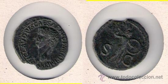 IR7-IMPERIO ROMANO. AS DE CLAUDIO. MBC+ (Numismática - Periodo Antiguo - Roma Imperio)