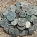 Monedas Imperio Romano: 60 MONEDAS ROMANAS. Lote 161266909