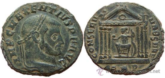 *** MAGNÍFICO Y ESCASO FOLLIS DE MAJENCIO 307DC AQUILEIA -AQP- *** (Numismática - Periodo Antiguo - Roma Imperio)