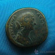 Monedas Imperio Romano: SESTERCIO - FAUSTINA HIJA & DIOSA CIBELES - MONEDA DE BRONCE - ROMA - IMPERIO ROMANO. Lote 32282275