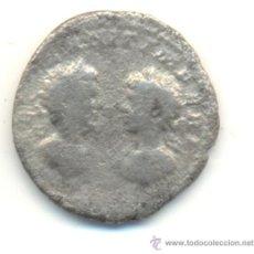 Monedas Imperio Romano: MUY RARO DENARIO DE DOS BUSTOS SEPTIMIO SEVERO Y CARACALLA.. Lote 33130193