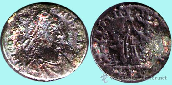 ROMA IMPERIO.- GRACIANO - EMP. ROMA (375-383 D. C.) AS COBRE. CONSERVACION MBC (Numismática - Periodo Antiguo - Roma Imperio)