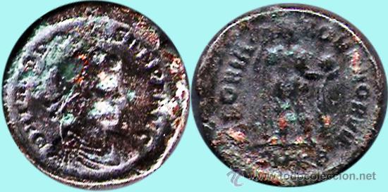 ROMA IMPERIO.- TEODOSIO - EMP. ROMA (375-395 D. C.) AS COBRE.CONSERVACION MBC (Numismática - Periodo Antiguo - Roma Imperio)