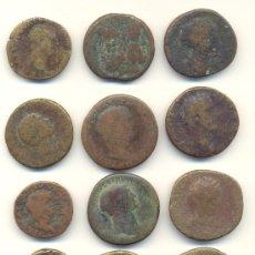 Monedas Imperio Romano: BARATO LOTE DE DOCE PIEZAS ROMANAS INCLUYE 8 SESTERCIOS, AS DE NERÓN, DUPONDIO TRAJANO. Lote 34610719