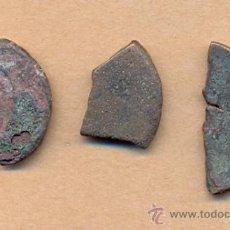 Monedas Imperio Romano: MONEDA 615 TRES MONEDAS ROMANAS CORTADAS ROMA IMPERIO TRES TROZOS DE HISTORIA PARA CLASIFICAR TO. Lote 37283404