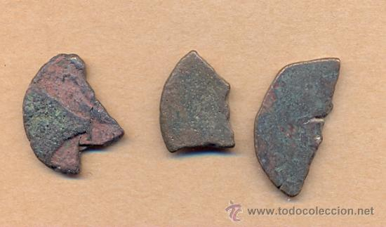 Monedas Imperio Romano: MONEDA 615 TRES MONEDAS ROMANAS CORTADAS ROMA IMPERIO TRES TROZOS DE HISTORIA PARA CLASIFICAR to - Foto 3 - 37283404