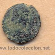 BRO 196 - MONEDA ROMANA AUSO REVERSO FIGURA ESTILIZADA MEDIDAS SOBRE 15 X 16 MM PESO SOBRE 2 GR (Numismática - Periodo Antiguo - Roma Imperio)