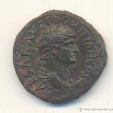 Monedas Imperio Romano: MUY BONITO AS DE DOMICIANO (81-96 D.C.) PRECIOSO BUSTO. Lote 45594167
