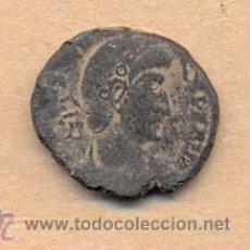 Monedas Imperio Romano: BRO 215 MONEDA ROMANA IMPERIO ANVERSO BUSTO AVERUO - REVERSO FIGURA ESTILIZADA ROMA MEDIDAS SOBRE. Lote 45662415