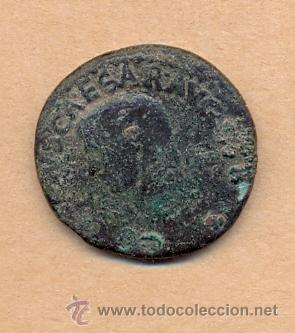 BRO 217 MONEDA ROMANA IMPERIO ANVERSO BUSTO AUSCAESARVG - REVERSO FIGURA MEDIDAS SOBRE 27 MM PES (Numismática - Periodo Antiguo - Roma Imperio)