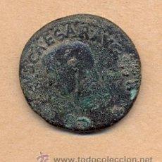 Monedas Imperio Romano: BRO 217 MONEDA ROMANA IMPERIO ANVERSO BUSTO AUSCAESARVG - REVERSO FIGURA MEDIDAS SOBRE 27 MM PES. Lote 45662630