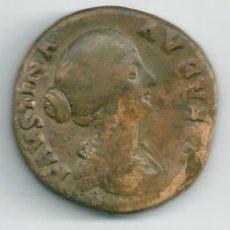 Monedas Imperio Romano: EMPERATRIZ FAUSTINA HIJA ( LA JÓVEN ) 147/175 DC UN SESTERCIO NL130. Lote 34445285