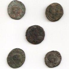 Monedas Imperio Romano: BUSCADO Y ESCASO LOTE DE 5 MONEDAS DEL BAJO IMPERIO EN COBRE, POR DEFINIR (VISITAR REVERSO). MBC. Lote 51160023