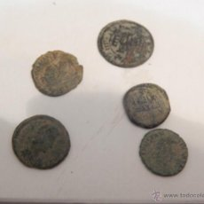 Monedas Imperio Romano: LOTE 5 MONEDAS 3 BAJO IMPERIO,UNA DE 4 MARAVERIES,Y UN FELUS HISPANO ARABE.. Lote 51389666