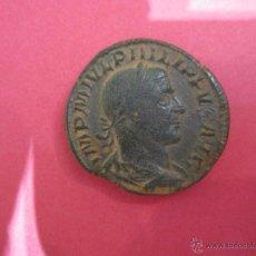 Monedas Imperio Romano: PRECIOSO SESTERCIO DE FILIPUS FILIPO PATINA VERDE. Lote 53091741
