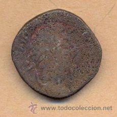 Monedas Imperio Romano: BRO 254 MONEDA ROMANA ANVERSO EMPERADOR, REVERSO FIGURA SENTADA MEDIDAS SOBRE 25 X 27 MILIMETROS. Lote 54014364