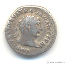Monedas Imperio Romano: CF- BONITO DENARIO DE TRAJANO EMPERADOR HISPANO (98-117 D.C.) REVERSO: HERCULES CON MAZA. Lote 54199347