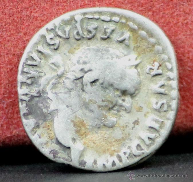 MO-213 - MONEDA EN PLATA. DENARIO DE VESPASIANO. IMPERIO ROMANO. 70 D. C. (Numismática - Periodo Antiguo - Roma Imperio)