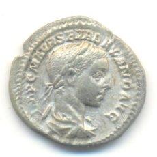 Monedas Imperio Romano: BONITO DENARIO DEL EMPERADOR ALEJANDRO SEVERO (222-235 D.C.). ACOMPAÑADO DE FICHA DE SUBASTA. Lote 57485884