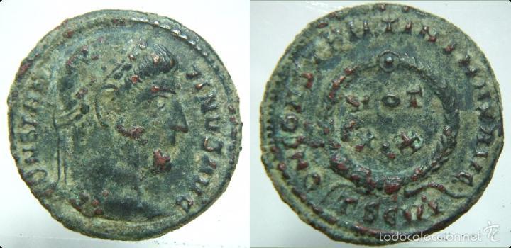 MONEDA ROMANA FOLLIS DEL EMPERADOR CONSTANTINO MAGNO BUEN RELIEVE (Numismática - Periodo Antiguo - Roma Imperio)