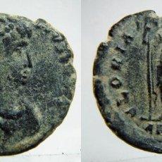 Monedas Imperio Romano: MONEDA ROMANA MAIORINA REDUCIDA DEL EMPERADOR TEODOSIO I REVERSO GLORIA ROMANORVM CECA ANT. Lote 147553057