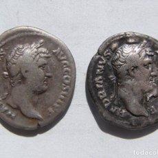 Monedas Imperio Romano: ADRIANO.LOTE DE DOS DENARIOS MUY RAROS.RESTITUTORI HISPANIAE.EMPERADOR A LA DERECHA Y A LA IZQUIERDA. Lote 61598584