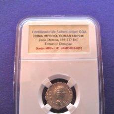 Monedas Imperio Romano: BONITO DENARIO DE JULIA DOMNA, CON CERTIFICADO JAMP. Lote 69800701
