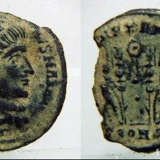 Monedas Imperio Romano: MONEDA ROMANA DEL EMPERADOR CONSTANTINO MAGNO OFICINA SEGUNDA CONSTANTINOPLA. Lote 120866787