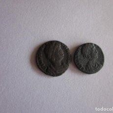 Monedas Imperio Romano: 2 MEDIOS CENTENIONALES: ELENA Y TEODORA.. Lote 81040432