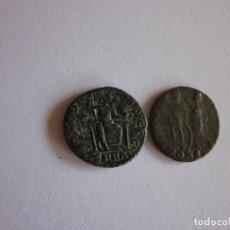 Monedas Imperio Romano: 2 MEDIOS CENTENIONALES: VALENTINIANO Y ARCADIO. REVERSOS ESCASOS.. Lote 81630064