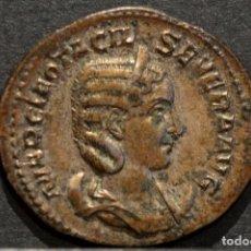 Monedas Imperio Romano: OTACILIA SEVERA ANTONINIANO (244-245 D.C) VELLON EXCELENTE CONSEVACIÓN. Lote 81919880