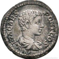 Monete Impero Romano: MUY BONITO DENARIO DE GETA, ROMA, CON CERTIFICADO DE AUTENTICIDAD. Lote 85596848