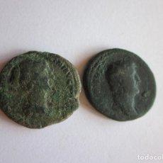 Monedas Imperio Romano: 2 ASES: ADRIANO Y FAUSTINA I. Lote 100640091