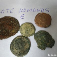 Monedas Imperio Romano: LOTE 5 MONEDAS ROMANAS A LIMPIAR Y CATALOGAR. Lote 103806583