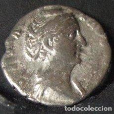 Monedas Imperio Romano: 130---INTERESANTE DENARIO DE FAUSTINA SENIOR--141-145 D.C.--AVGVSTA. Lote 105601175