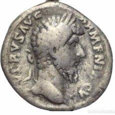 Monedas Imperio Romano: IMPERIO ROMANO! DENARIO! PLATA! LUCIO VERO (161 - 169 D. C.)! EBC-! MARTE. Lote 105617099