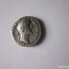 Monedas Imperio Romano: DENARIO DE ANTONINO PIO. EMPERADOR EN OFRENDA. PLATA.. Lote 105854507