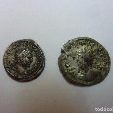 Monedas Imperio Romano: DOS DENARIOS PLATA ROMA CARACALLA Y GRACIANO. Lote 105932891